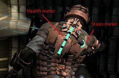 Dead Space - Diegetic UI elements - Health Bar