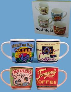Nostalgia Coffee Mugs (Set of 4):Amazon:Kitchen & Home