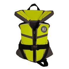 Mustang Lil' Legends 100 Child Vest - 30-50lbs - Gray-Flouresent Yellow-Green [MV3255-256]