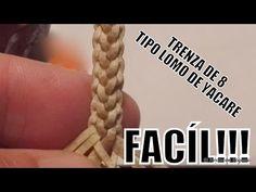 Siguen las trenzas ahora es el turno de mostrarles una nueva trenza de 8. Es pero que les guste, no se olviden de comentar, dar like y compartir! ¿Cómo Hacer... Leather Bags Handmade, Leather Craft, Braided Leather, Leather And Lace, Macrame Jewelry Tutorial, Wire Crochet, Macrame Knots, Hobbies And Crafts, Leather Working