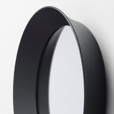 IKEA - LANGESUND, Mirror, dark grey, Provided with safety film - reduces damage if glass is broken. Suitable for use in most rooms, and tested and approved for bathroom use. Large Round Mirror, Oval Mirror, Round Mirrors, Circle Mirrors, Plastic Foil, Wall Brackets, Floor Mirror, Powder Coating, Cleaning