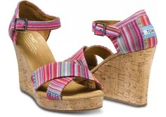 TOMS SHOES - Tierra Women's Strappy Wedges
