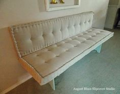 French Mattress Cushion Tutorial August Blues French Mattress -style Cushions The post French Mattress Cushion Tutorial appeared first on Upholstery Ideas. French Mattress Cushion Diy, Diy Cushion, Upholstery Foam, Furniture Upholstery, Upholstery Cushions, Upholstery Repair, Upholstery Cleaning, Cute Cushions, Seat Cushions
