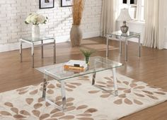 KINGS BRAND MODERN DESIGN CHROME FINISH WITH GLASS TOP END TABLE - Click image twice for more info - See a larger selection of  glass coffee tables at http://zcoffeetables.com/product-category/glass-coffee-tables/ - home, home decor, home ideas, home furniture, office furniture, table, gift ideas, living room,