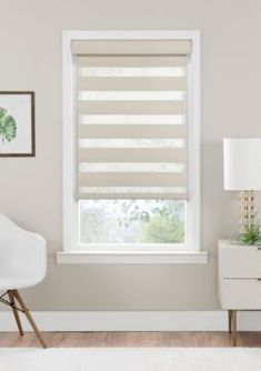 Achim Cordless Celestial Room Darkening Double Layered Shade Blind - Oyster - 33 In X 72 In Blinds For Windows Living Rooms, Bay Window Living Room, Bedroom Blinds, House Blinds, Master Bedroom, Bedroom Decor, Bay Window Blinds, Curtains With Blinds, Room Darkening Blinds