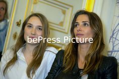 20160414 - LIEGE, BELGIUM: L'actrice belge Deborah Francois (G) et La mannequin Française Fanny Anselme (D) assiste au photocall du jury avant la Conférence de presse pour le 10ème Festival du Film Thriller Liege le 14 avril 2016 à Liège. | Belgian actresses Deborah Francois (L) and French top model Fanny Anselme (R) attends jury photocall before the press conference for the 10th Liege Thriller Film Festival on April 14, 2016 in Liege, Belgium. Photo Philippe Bourguet/bePress Photo Agency
