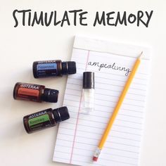 These three oils blended together are a powerhouse trio to help stimulate our mind and improve memory! Essential Oils For Memory, Essential Oil Uses, Natural Essential Oils, Young Living Essential Oils, Essential Oil Diffuser, Easential Oils, Doterra Essential Oils, Living Oils, Diffuser Blends