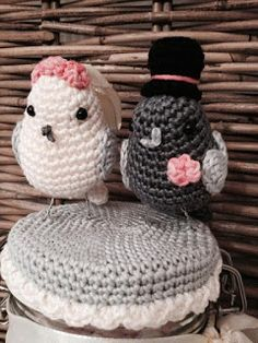 MieksCreaties: Mijn Oom en Tante zijn 40 jaar getrouwd met patroon van duifjes