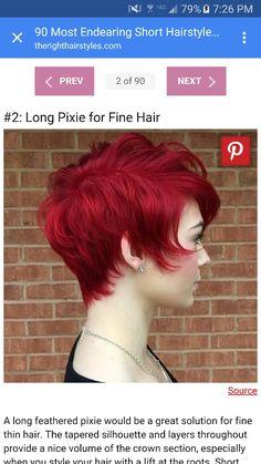 Long pixie cut