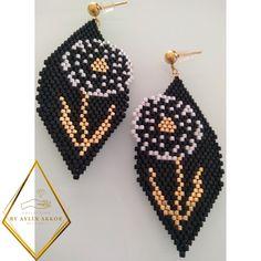Seed Bead Earrings, Beaded Earrings, Seed Beads, Crochet Earrings, Beading Ideas, Beading Patterns, Diy Jewelry, Jewlery, Brick Stitch