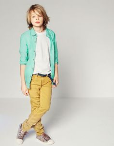 TWILL SKINNY TROUSERS - Trousers - Boy (2-14 years) - Kids - ZARA United States