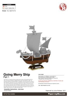 PaperToy - One Peace - Going Merry Part 01 001