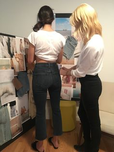 A look inside an AYR fitting with a fit model. Photo: AYR