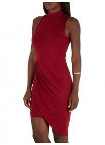 c(inch) | Drape Dress Dark Red