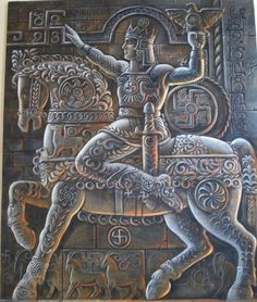 """Aramazd - The father of all the gods and goddesses, Aramazd created the heavens and the earth. The first two letters in his name, """"AR"""", are the Armenian root for sun, light, and life. Worshiped as a sun-god, Aramazd was considered to be the source of earth's fertility. His feast Am'nor, or New Year, was celebrated on March 21 in the old Armenian calendar. Aramazd's main sanctuary was one of the principal cult centers of Ancient Armenia."""