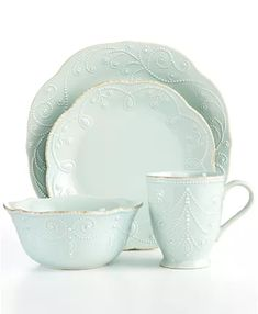 Lenox Dinnerware, French Perle Collection & Reviews - Dinnerware - Dining - Macy's Liatorp, Casual Dinnerware, White Dinnerware, Farmhouse Dinnerware Sets, Classic Dinnerware, Stoneware Dinnerware, Lenox French Perle, Cooler Stil, Tea Stains