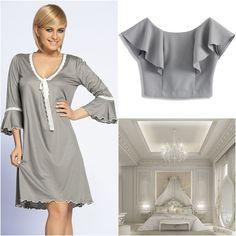 PARIS #poland #polska #unikat #underwear #lingerie #grey #floundes #pijama #nightwear #style #paris