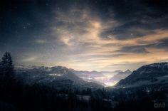 ❥ beautiful starry sky, Switzerland