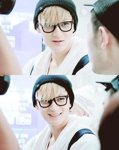 Blonde Tao, K-Pop sure has some pretty handsome maknae's good grief SM:)