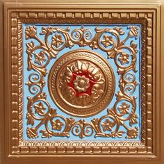 Beautiful victorian design and a coffered features make this tile one of our best selling ones.