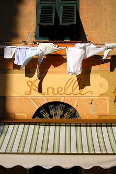 laundry, Camogli, Portofino, Liguria, Italy