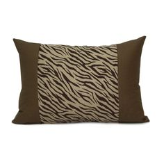 Brown Zebra Throw Pillow Cover