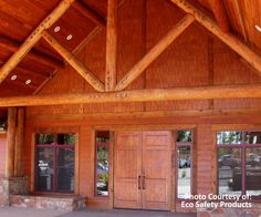 TimberSoy Wood Stain for exterior wood and log cabins.