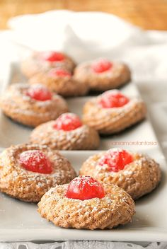 Italian cookies with almond past. I can't wait to goto Italy this year and just visit some bakeries