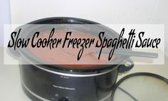 Slow Cooker Freezer Spaghetti Sauce – Haphazard Homemaker Slow Cooker Recipes, Crockpot Recipes, Slow Cooker Spaghetti Sauce, Tomato Sauce, Homemaking, Meal Prep, Canning, Tomatoes, Porch