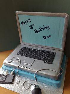 Laptop cake | Flickr - Photo Sharing!