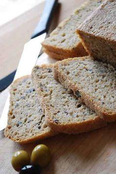 Pan de aceitunas. Receta para panificadora.¡PROBADO! me pidió un poquito más de harina... y lo hice con 100gr.de aceitunas negras solamente.