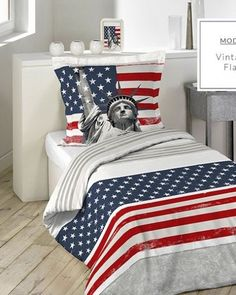 detske-postelne-obliecky-140-x-200-cm-s-motivom-americkej-vlajky Comforters, Blanket, Bed, Furniture, Vintage, Home Decor, Creature Comforts, Quilts, Decoration Home
