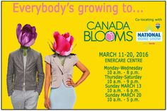 Everyone is Growing to @CanadaBlooms in Toronto #Giveaway CAN, ends 3/6