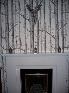 At last have managed  to incorporate my favourite and most coveted wallpaper in bot my dining room -with added Graham