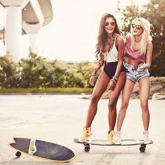 Skateboarding chicks