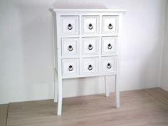 Kommode Apothekerkommode Telefontisch Beistelltisch - weiß - Shabby in Möbel & Wohnen, Möbel, Kommoden | eBay