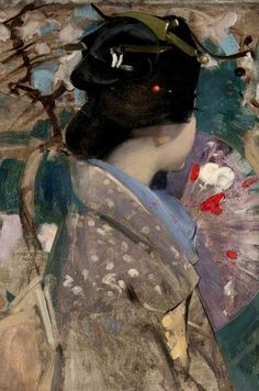 """""""Japanese Lady with a Fan"""" - George Henry"""