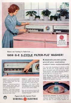 GE 5-Cycle Filter-Flo Washer 1959