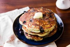 Weekend brunch just isn't complete without classic, homemade pancakes. We made this breakfast favorite even better by replacing buttermilk with our goat milk kefir for fluffier pancakes. Fluffy Pancakes, Pancakes And Waffles, Kefir Pancake Recipe, New York Times Cooking, Breakfast Specials, Homemade Pancakes, Frozen Blueberries, Goat Milk, Blueberry