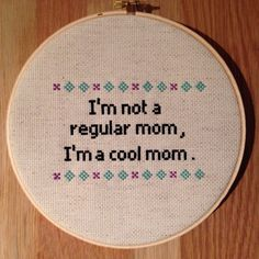 Mean Girls Cool Mom Cross Stitch by NoBasicStitches on Etsy
