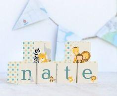personalised wooden name blocks, personalised baby name blocks
