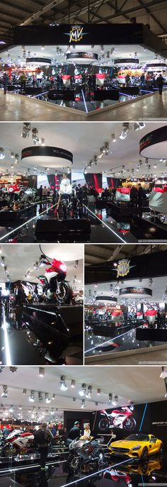 MV Agusta stand for the EICMA show