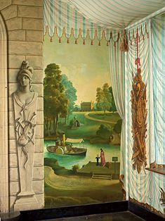 Whistler painted this corner of the Tent Room at Port Lympne.  The girls want a tent and desert mural.