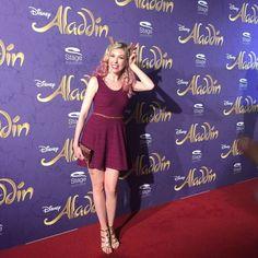 Schauspielerin und Musicaldarstellerin Janina Korn auf der Premiere von Disneys #Aladdin #AladdinHamburg