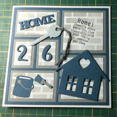 Scrapbook Pages, Scrapbooking, House Cards, New Home Cards, Happy New Home, Marianne Design, Coming Home, Verses, Buildings