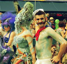 I wanna go to Coney Island some day! This is the Mermaid Parade, fotos by Karen Michel