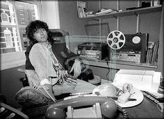 Page in his home office