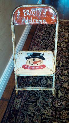 Trashy Treasures Frosty vintage child's chair                                                                                                                                                      More Snowmen, Snowman