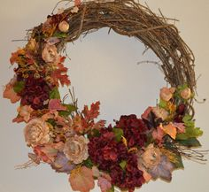 Fall Wreath Winter Wreath with Hydrangea Fall by TheBloomingWreath