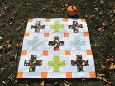 Cute design for a Halloween quilt and also is a cross pattern quilt. DLW